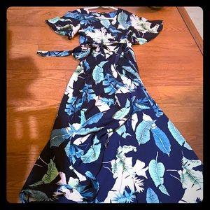 SHEIN Long wraparound maxi dress size L